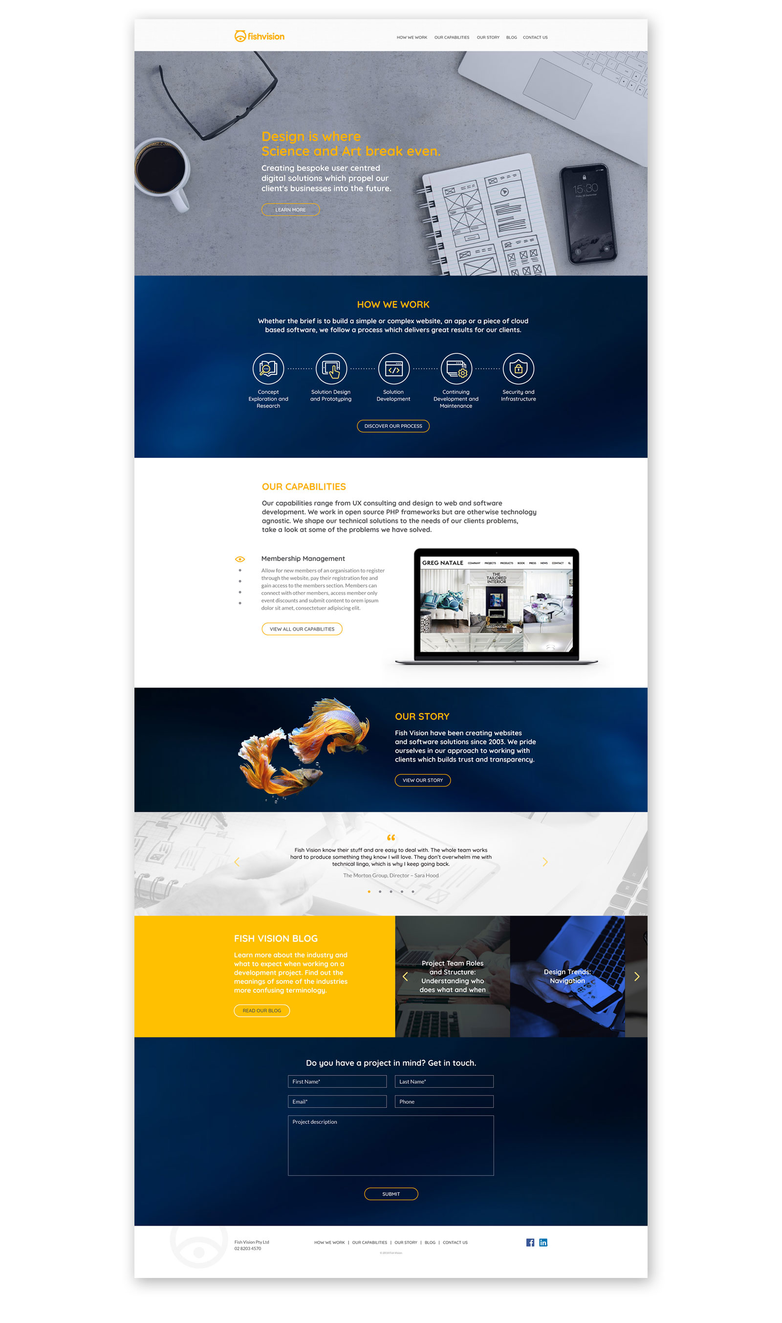 Fish Vision Website