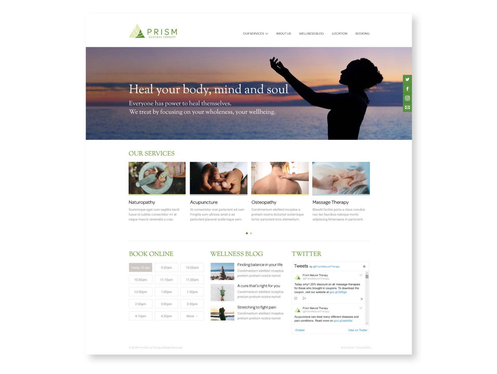 Prism Website Design